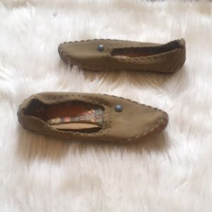 Hush Puppies Leather Moccasins Size 7